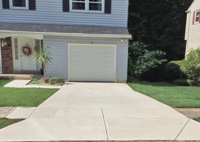 concrete driveway and entrance