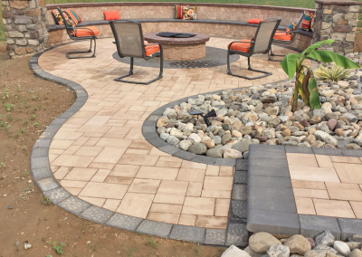 outdoor patio pavers fire pit