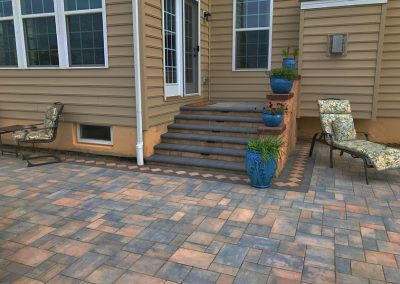 paver patio and steps