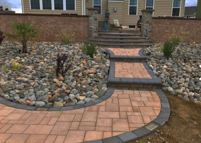 Pavers, stones and entrance