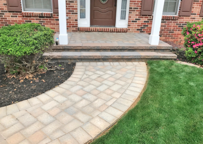 paver entrance with steps