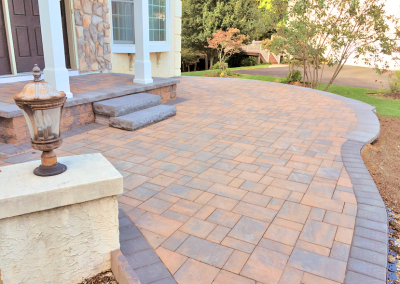 paved entrance patio