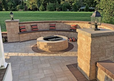 hardscape with firepit